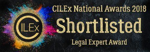 CILEx Shortlisted Legal Expert 2018