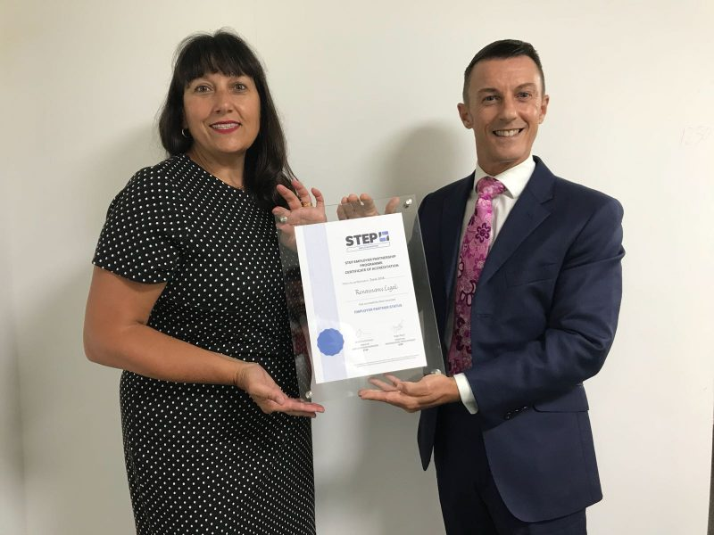 Philip Warford collecting STEP Employer Partnership certificate